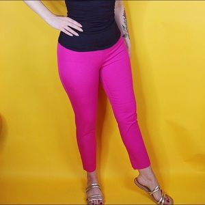 Pants - Pink Mid Rise Ankle Pant